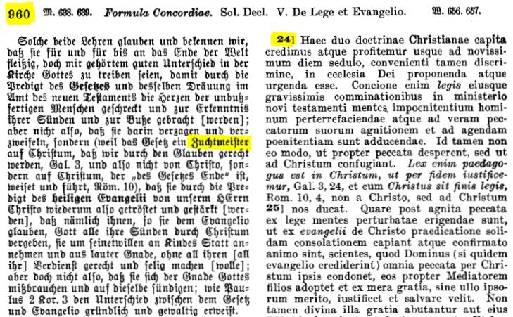 Concordia Triglotta Stichwort finden